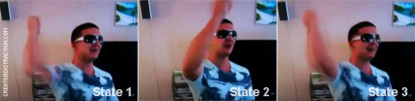 Jersey Shore Fist Pump Gesture States