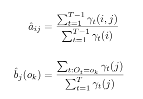 Baum-Welch update equations