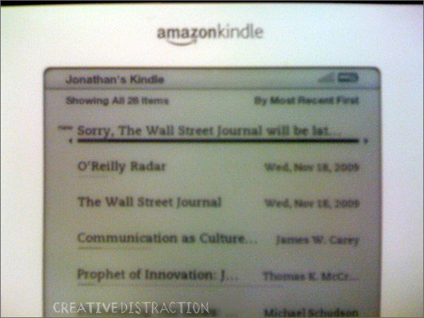 Kindle News Misdelivered
